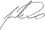 Ink Signature of Pastor